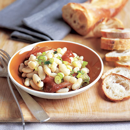 """Cannellini Bean, Scallion, and Prosciutto Dip"""