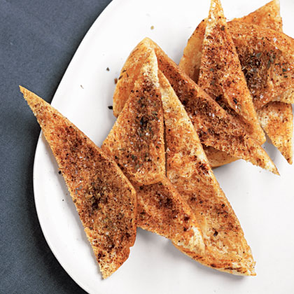 Spiced Pita Chips Recipe