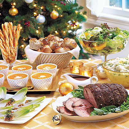 Traditional Christmas Dinner Menu.Traditional Christmas Dinner Menus Recipes Myrecipes