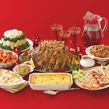Traditional christmas dinner menus recipes myrecipes christmas dinner menu forumfinder Choice Image