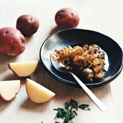 Mashed Potatoes with Caramelized Shallots
