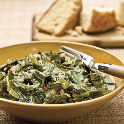 Collards With Red Onions Recipe