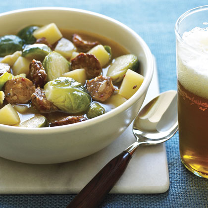 Brussels Sprouts and Sausage Soup Recipe