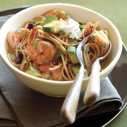 Shrimp, Ancho Chile, and Pasta Soup