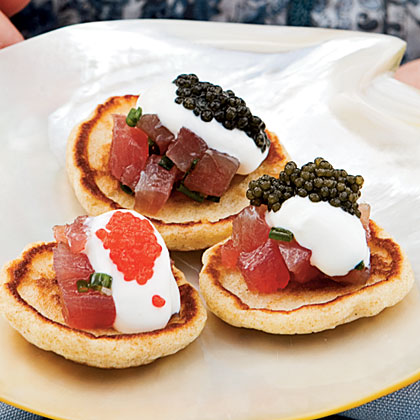 Tuna Tartare Blini