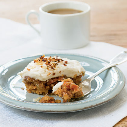 Carrot Cake with Toasted Coconut Cream Cheese Frosting Recipe