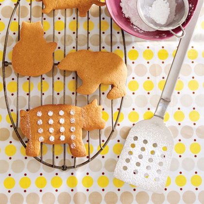 Gingerbread Cookies RecipeDon't limit your holiday baking to gingerbread people alone. Use a variety of cookie cutters to make pigs, cats, dogs, and bears. Making cut-out cookies is a great way to entertain the kids over the holidays as well as teach them a little about baking.