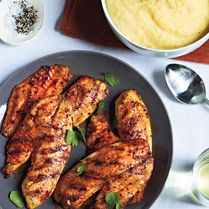 <p>Grilled Tilapia with Smoked Paprika and Parmesan Polenta</p>
