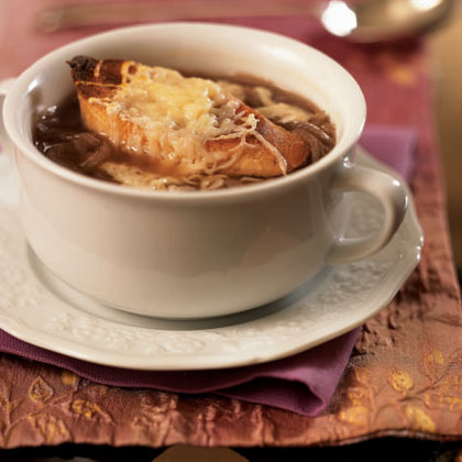 Onion Soup with Cheese CrostiniRecipe