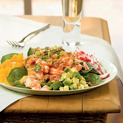 Caribbean Shrimp Salad with Lime Vinaigrette