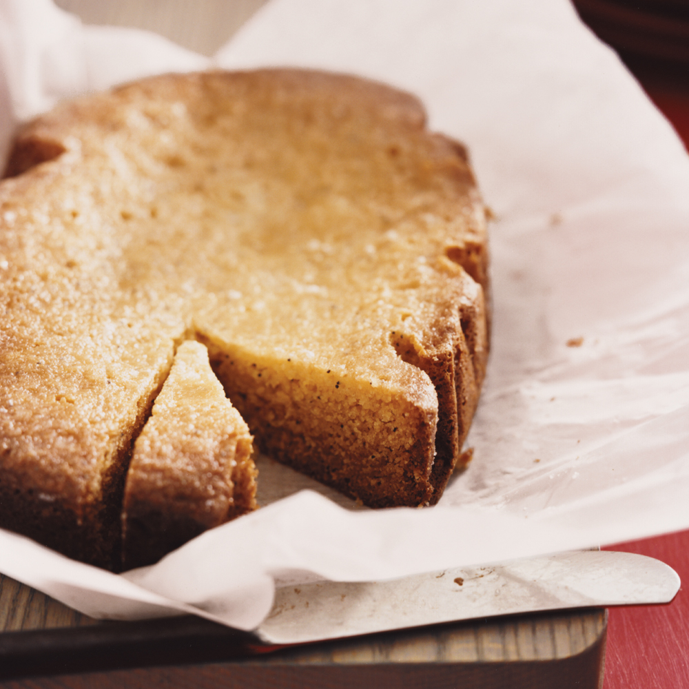 Slow-Cooker Lemon Poppy-Seed Cake