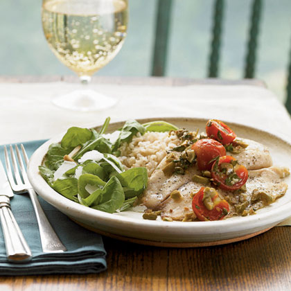 <p>Roasted Tilapia with Tomatoes and Olives</p>