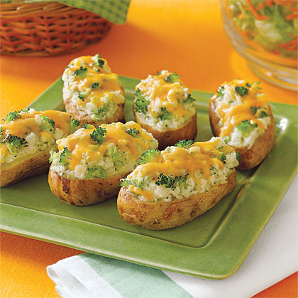 Broccoli-and- Cheese-Stuffed Baked Potatoes Recipe | MyRecipes