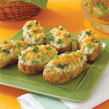 Broccoli-and- Cheese-Stuffed Baked Potatoes Recipe | MyRecipes