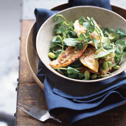 Pan-Seared Dumpling Salad