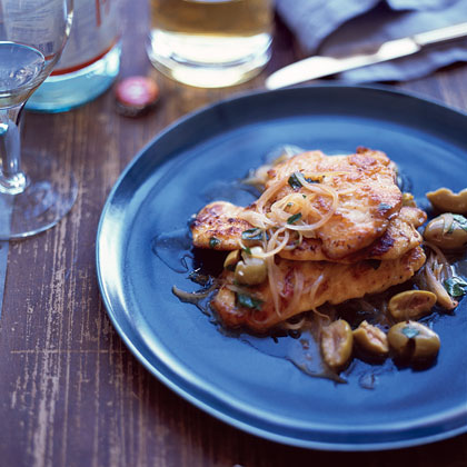 Lemon Chicken with Olives Recipe