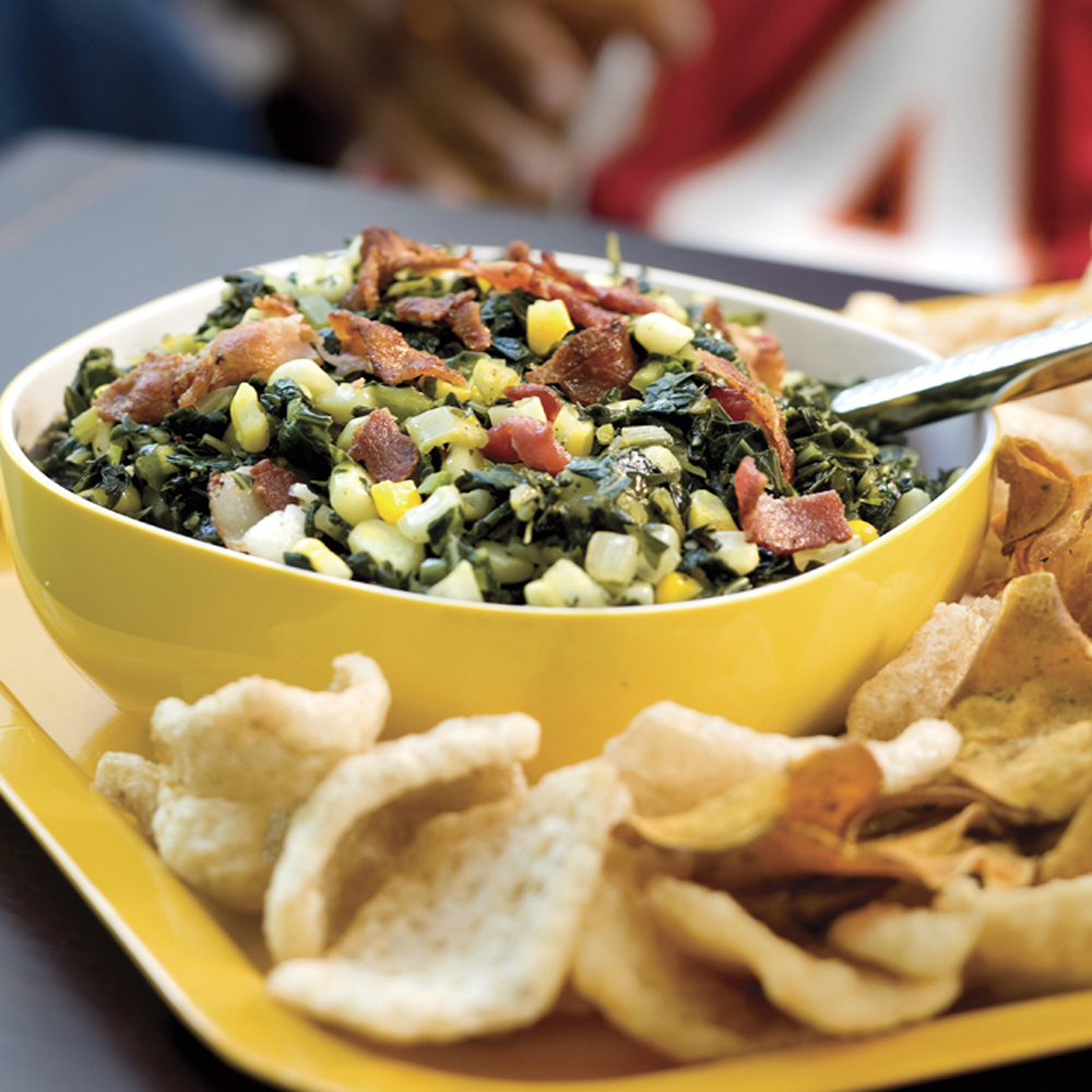 Bacon-and-Greens Salsa Recipe
