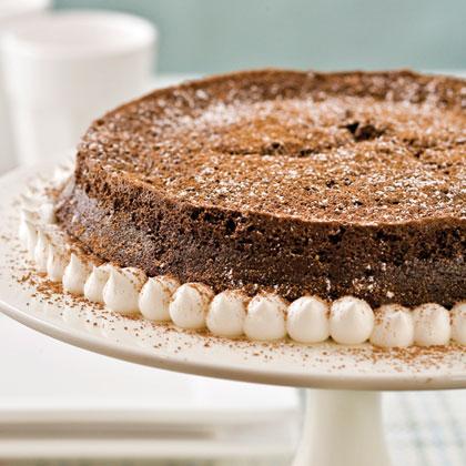 Dark Chocolate-Bourbon Torte