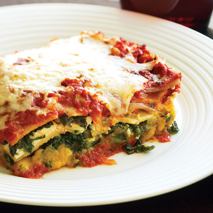 Whole-wheat Lasagna with Butternut Squash and Kale Recipe