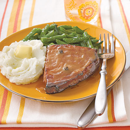 Ham Steaks with Honey-Mustard Recipe