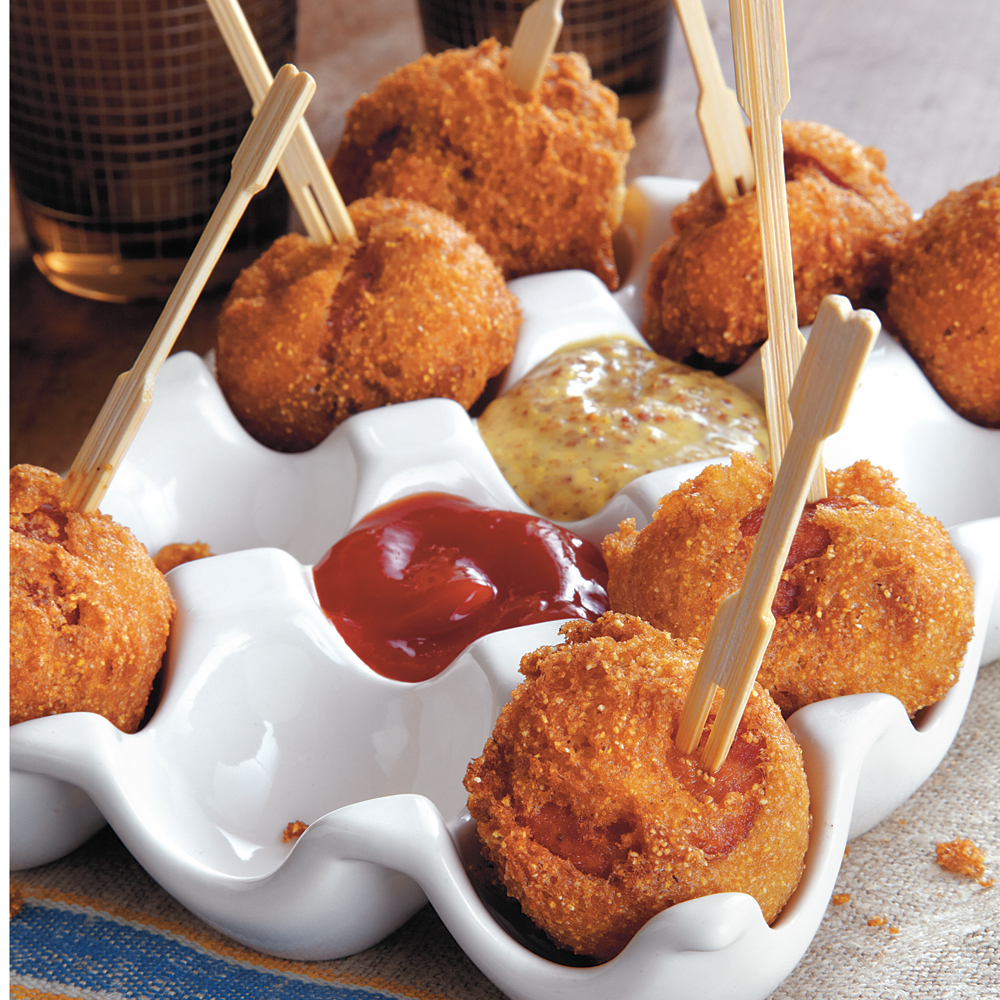 Andouille Corn Poppers