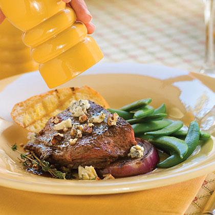 Maple-Mustard Broiled Steak