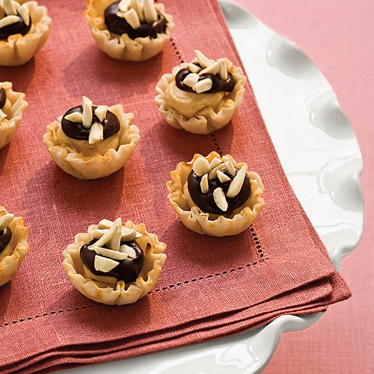 Chocolate-Coffee Cheesecake Tartlets