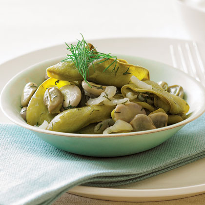 Braised Whole-pod Fava Beans with DillRecipe