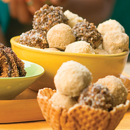 Samoas Ice-cream Truffles