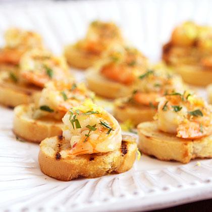 Shrimp Bruschetta al Limoncello