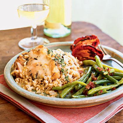 Parmesan Chicken and Rice Casserole
