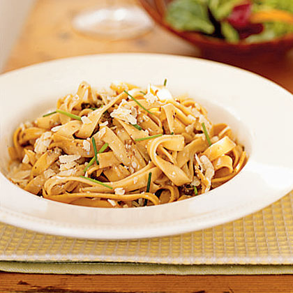 <p>Creamy Fettuccine with Porcini Mushrooms</p>