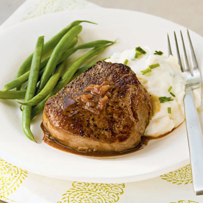 Filet Mignon with Port and Mustard Sauce Recipe | MyRecipes.com