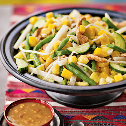 Bright Fruit And Vegetable Salad Rojak