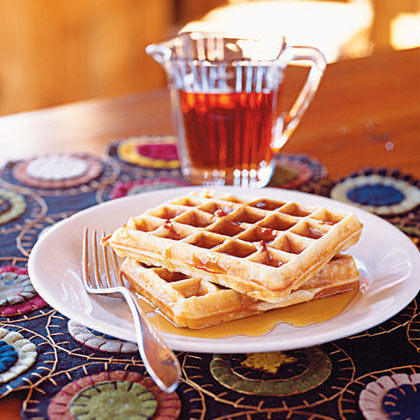 cornmeal bacon waffles recipe file waffle with maple syrup waffles ...