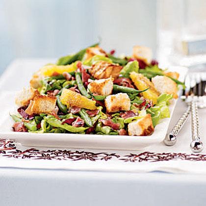 Radicchio, Haricots Verts, and Sweet Lettuce Salad
