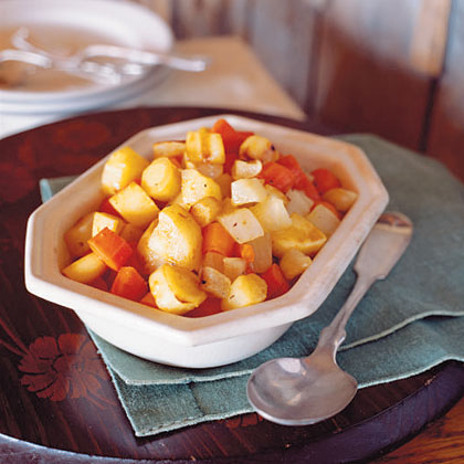 Roasted Root Vegetables with Maple Glaze
