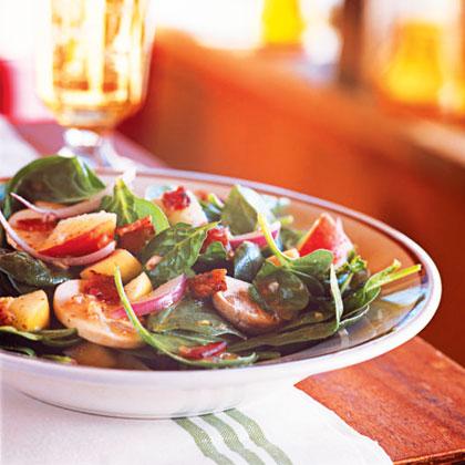 Spinach Salad with Maple-Dijon VinaigretteRecipe