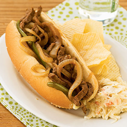 <p>Steak and Cheese Sandwiches with Mushrooms</p>