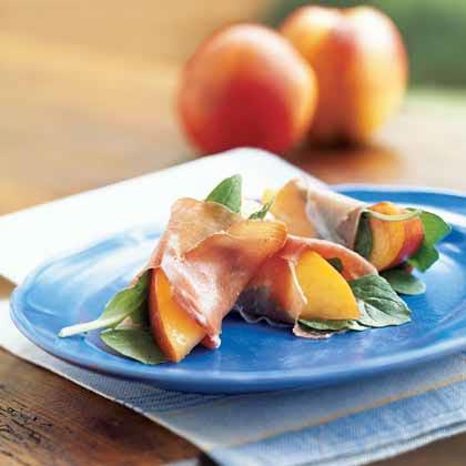 Nectarine, Prosciutto, and Arugula Bundles Recipe