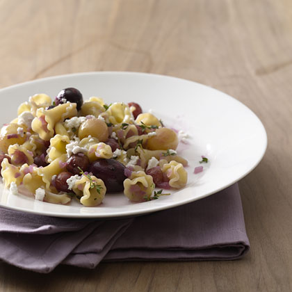 Campanelle-Grapes-feta Recipe