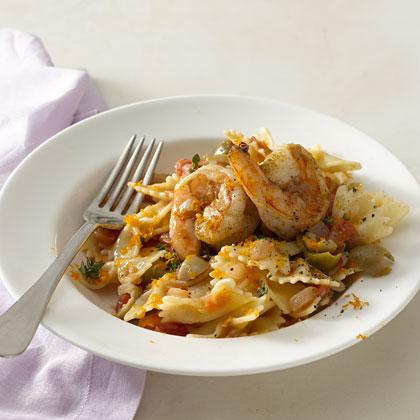 shrimp-farfalle-spanish Recipe