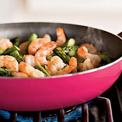 Sautéed Asparagus and Shrimp with GremolataRecipe