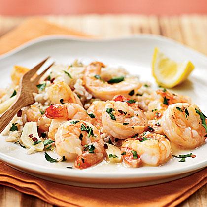 <p>Chile-Garlic Shrimp</p>