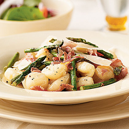 Gnocchi with Asparagus and Pancetta