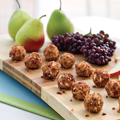 Gorgonzola Truffles RecipeSometimes the perfect serving piece is right in your kitchen. Pull out a wooden cutting board for a casual yet artful arrangement of fruits and cheeses.