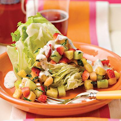 Strawberry-Pineapple Iceberg Wedges Recipe