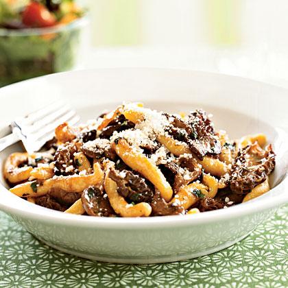 morel mushroom recipe pasta sauce recipes mushrooms cooking morels myrecipes egg portobello yolk leftover rich dough refer rustic boursin shells