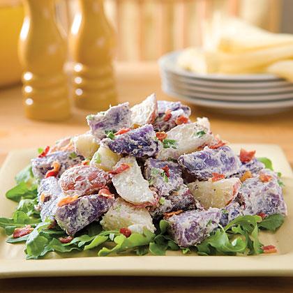 Warm Purple-and-Red Potato Toss Recipe