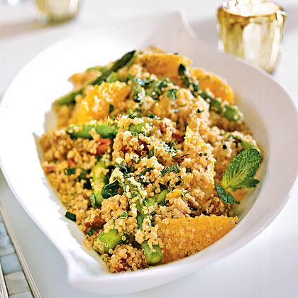 Quinoa Salad with Asparagus, Dates, and Orange Recipe